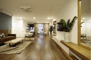 Thiết kế nội thất căn hộ 120m2 có 3 phòng ngủ