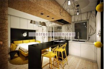 Mẫu thiết kế nội thất căn hộ chung cư 25m2 cho người độc thân