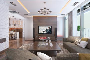 Nội thất căn hộ chung cư 120m2 có 3 phòng ngủ