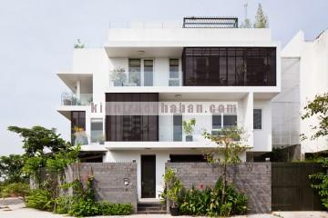 Thiết kế nhà phố 3 tầng mang phong cách hiện đại với không gian thoáng đãng