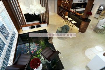 Nội thất căn hộ 3 tầng sang trọng và đầy đủ các phòng chức năng