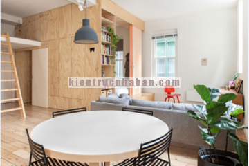 Nội thất căn hộ 75m2 khu đô thị HH1 Linh Đàm cùng cách thiết kế đầy sáng tạo.