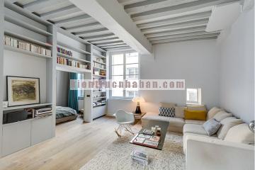 Thiết kế nội thất căn hộ 50m2 tiện nghi cho vợ chồng trẻ