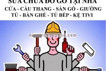 Nhận sửa chữa đồ gỗ tại Hà Nội uy tín có bảo hành