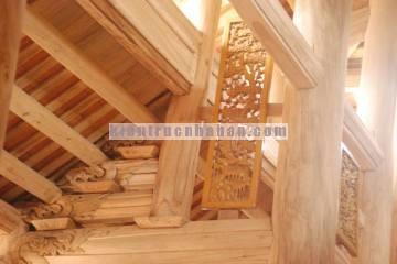 Thiết kế xây dựng nhà gỗ xoan 5 gian giá rẻ tại Hà Nội