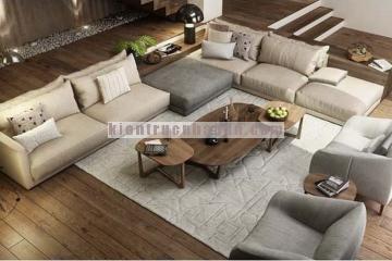 Thiết kế hiện đại kết hợp với nội thất gỗ cho không gian nhà bạn