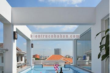 Thiết kế hồ bơi trong nhà phố có diện tích gần 80m2