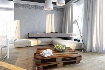 Thiết kế nội thất căn hộ chung cư với gam màu đen – trắng chủ đạo