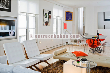 Thiết kế nội thất căn hộ 65m2 với màu sắc tươi trẻ và hiện đại