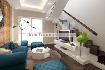 Thiết kế nội thất nhà phố với không gian gợi mở và gần gũi với thiên nhiên.