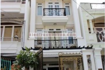 Thiết kế nhà phố 4 tầng theo phong cách bán cổ điển