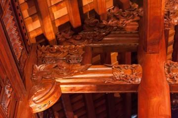 Làm nhà gỗ Lim 5 gian theo mẫu kẻ truyền Bắc bộ tại Hà Nội